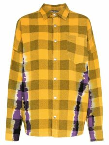 Palm Angels tie-dye check overshirt - Yellow