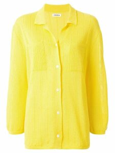Coohem knitted paper yarn top - Yellow
