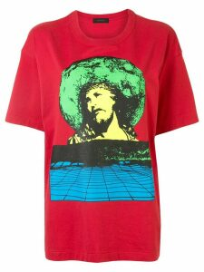 Undercover Jesus print T-shirt - Red