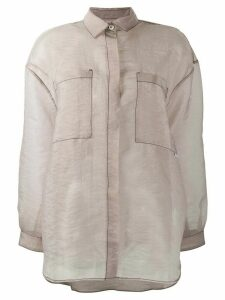 Sunnei contrast stitch shirt - NEUTRALS