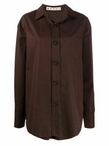 Marni oversized buttoned shirt - Brown