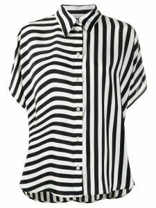 Stella McCartney contrast-stripe silk shirt - Black
