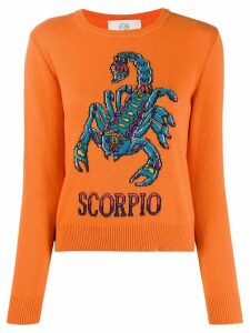Alberta Ferretti Scorpio-instarisia sweater - ORANGE