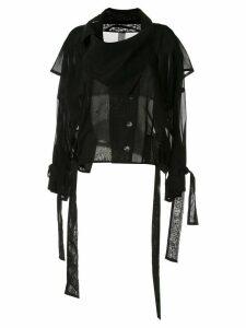 Symetria sheer blouse - Black