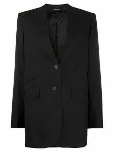 Givenchy single-breasted collarless blazer - Black