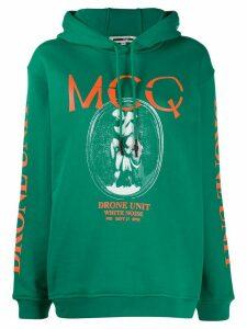 McQ Alexander McQueen graphic print hoodie - Green
