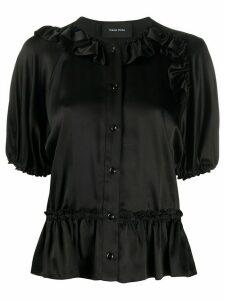 Simone Rocha ruffle trimming shirt - Black