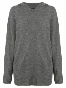 James Perse lightweight cashmere hoodie - Grey