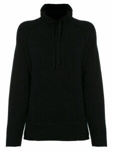 James Perse mock-neck drawstring sweatshirt - Black