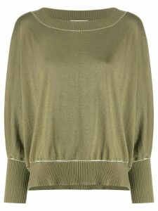 Snobby Sheep contrast trim sweater - Green