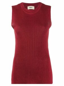 Barena sleeveless knitted top - Red