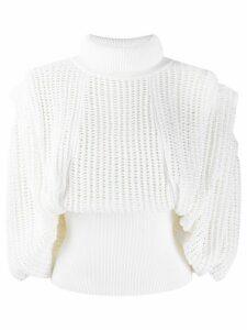 Givenchy hang sleeves mesh top - White
