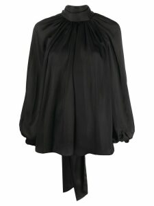 Zimmermann bow-fastening flared blouse - Black