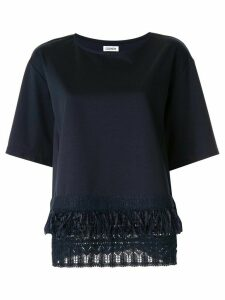 Coohem short sleeve knit detail T-shirt - Blue
