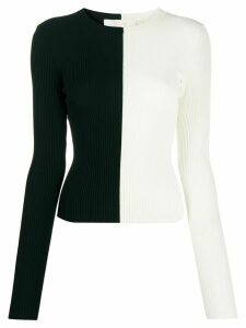 Ssheena two-tone knit jumpers - NEUTRALS