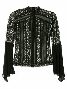 Martha Medeiros high neck blouse - Black