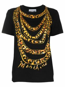Moschino painted chain print T-shirt - Black