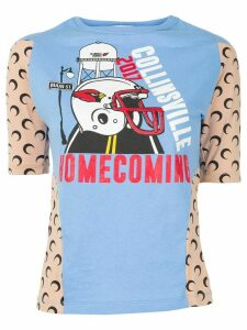 Marine Serre Homecoming print T-shirt - Blue