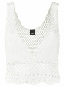 Pinko crochet open knit top - White