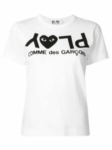 Comme Des Garçons Play logo print relaxed fit T-shirt - White