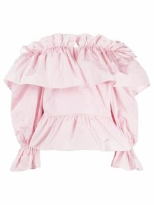 MSGM ruffled detail blouse - PINK