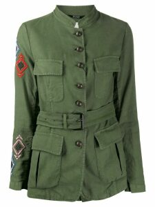 Bazar Deluxe embroidered military jacket - Green