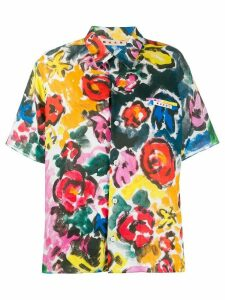 Marni floral print shirt - Yellow