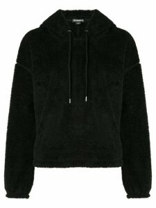 James Perse sherpa drawstring hoodie - Black