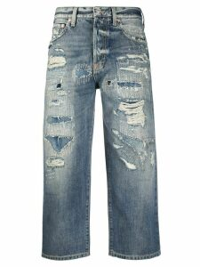 Givenchy cropped straight leg jeans - Blue
