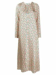 Marni floral print silk dress - NEUTRALS