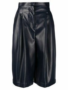 Philosophy Di Lorenzo Serafini faux leather knee-length shorts - Blue