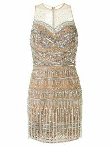 Zuhair Murad embellished tulle mini dress - Brown