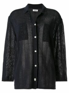 Coohem knitted paper yarn shirt - Blue