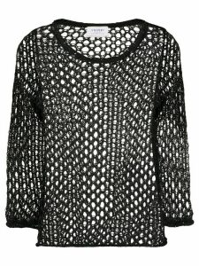 Snobby Sheep open-knit top - Black