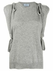 Prada sleeveless cashmere jumper - Grey