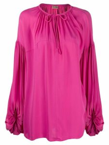 By Malene Birger oversized tie-neck blouse - PINK