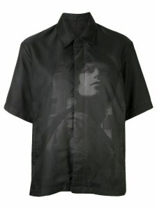Undercover printed short-sleeved shirt - Black