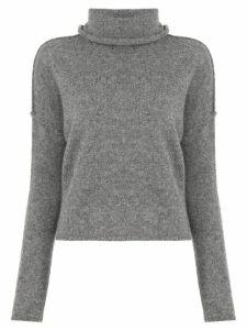 James Perse turtleneck cashmere jumper - Grey