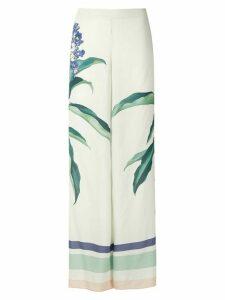 Adriana Degreas printed wide leg trousers - White