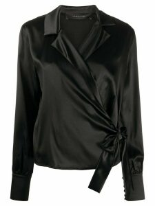 Federica Tosi wrap style fitted blouse - Black