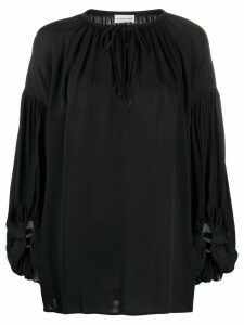 By Malene Birger oversized tie-neck blouse - Black
