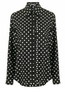 Dolce & Gabbana polka dot print shirt - Black