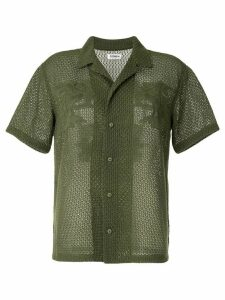 Coohem Aloha eyelet knit shirt - Green