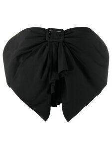 The Attico bow front bandeau top - Black