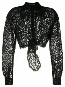 Dolce & Gabbana sheer lace shirt - Black