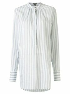 Ann Demeulemeester striped long shirt - Blue