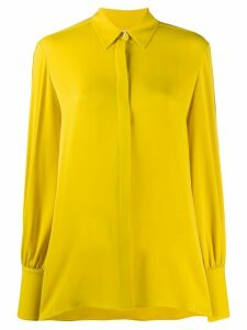 The Row silk long-sleeve flared blouse - Yellow