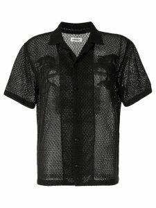 Coohem Aloha eyelet knit shirt - Black
