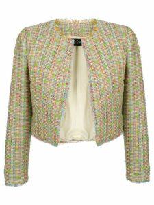 Isabel Sanchis cropped tweed jacket - Green