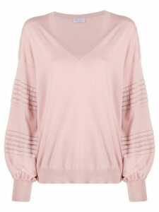 Brunello Cucinelli stud-embellished cotton jumper - PINK